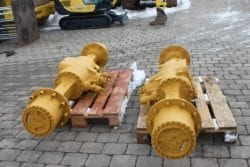 Achsen Hamworthy aus Hydrema 805, Baggerlader